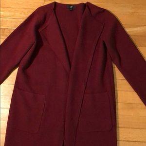J Crew Juliette Collarless Sweater Blazer